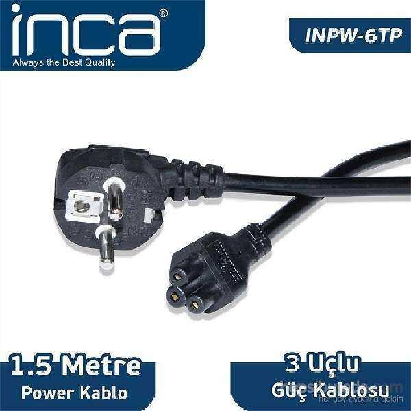 INCA INPW-6TP 1.5 Mt Notebook Power Kablosu  (Yonca)