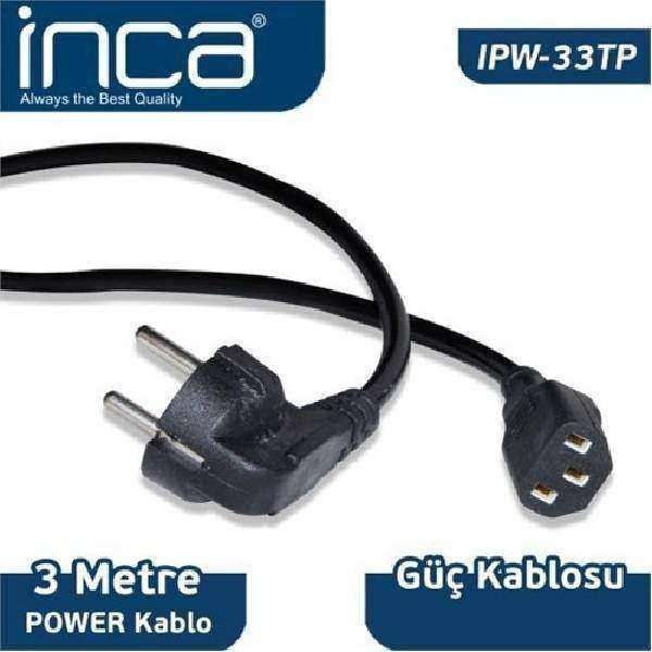 INCA IPW-33TP 3 Mt 0.75mm PC Power Kablosu