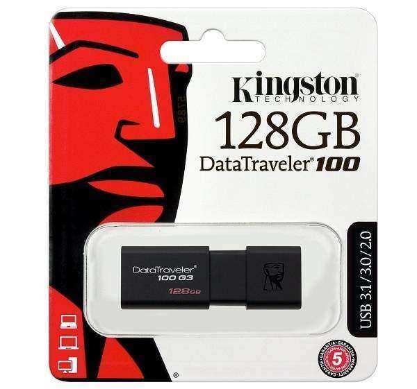 Kingston 128Gb DT100G3/128GB Usb 3.1/3.0/2.0 Flaş Bellek