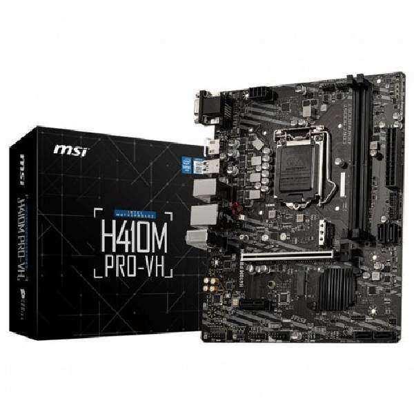 MSI H410M PRO-VH H410 DDR4 Vga GLan mATX HDMI M2 USB3.2 1200p Anakart